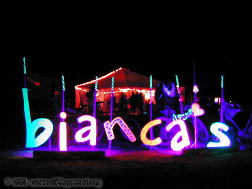 blacklight bianca letters, 2001